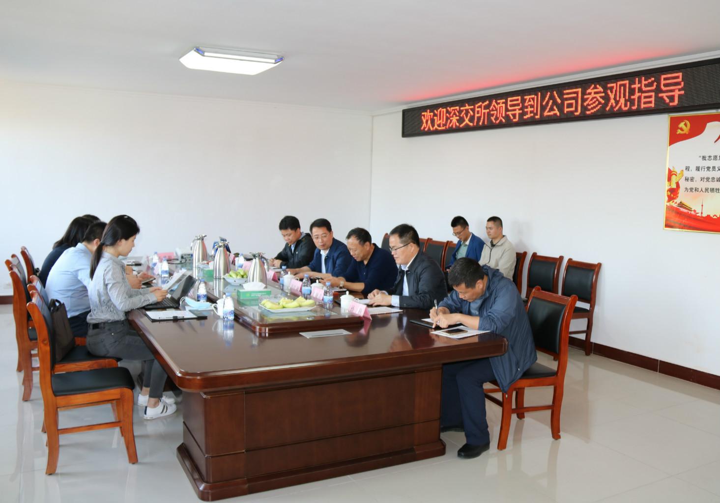 深圳证券交易所领导到公司调研指导