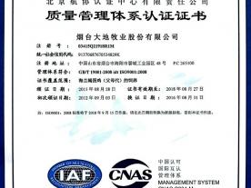 品质:质量管理体系认证证书